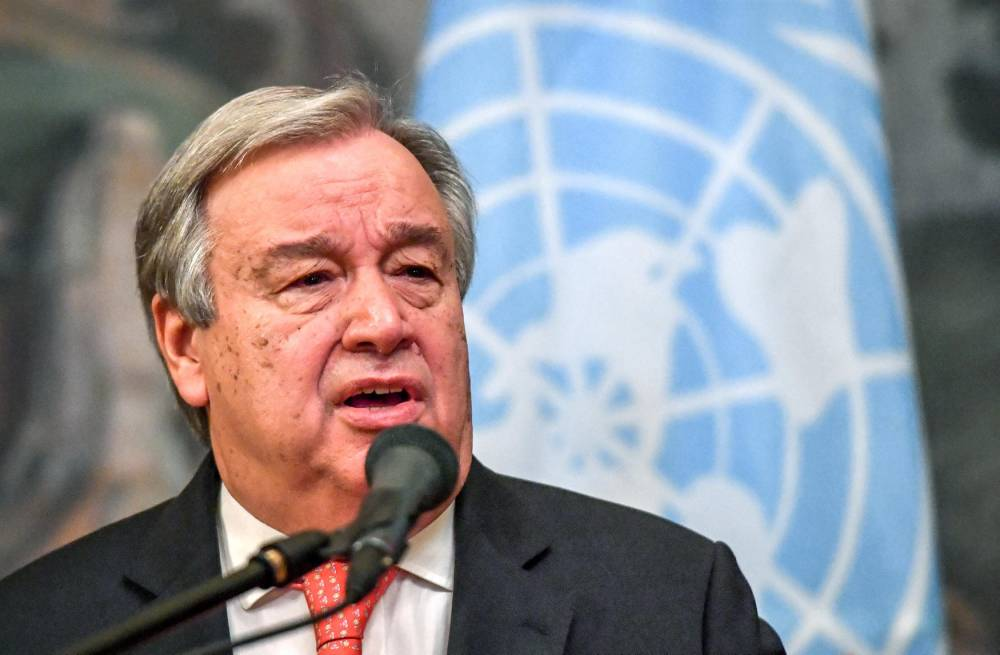 Antonio Guterres, paix, paris ©  YURI KADOBNOV / AFP