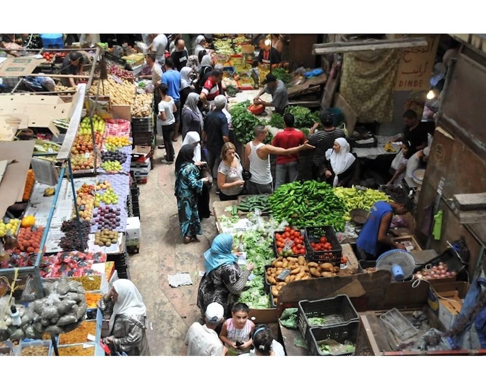 Dans un marché d'Alger pendant le ramadan. ©  DR