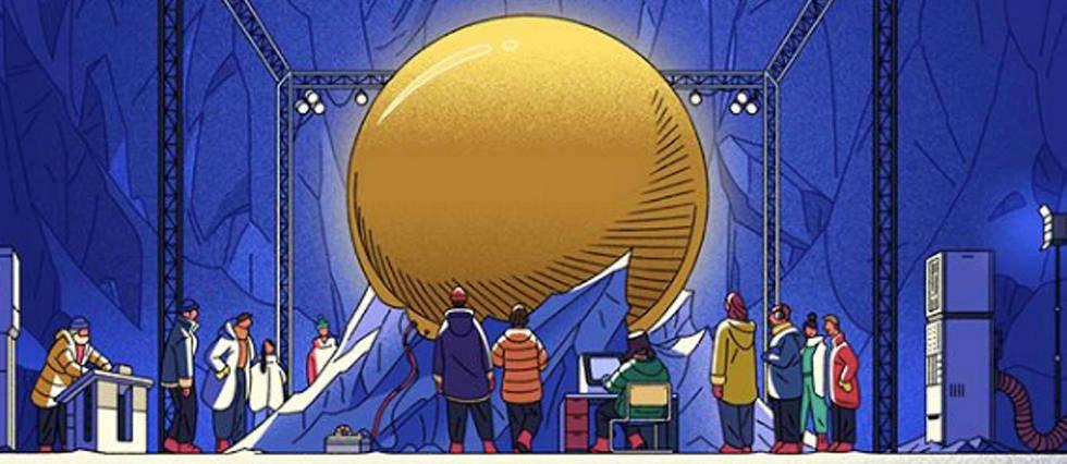 <p>Illustration de La Nuit des temps par Theo Guignard pour le hors-serie du Point Pop << Les chefs-d'oeuvre de la science-fiction >>.</p>