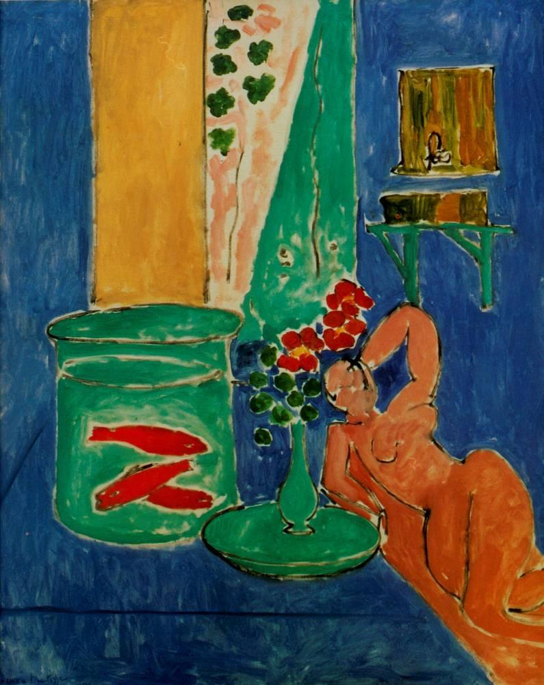 """""""Poissons rouges et scultpures"""", d'Henri Matisse ©  DR"""
