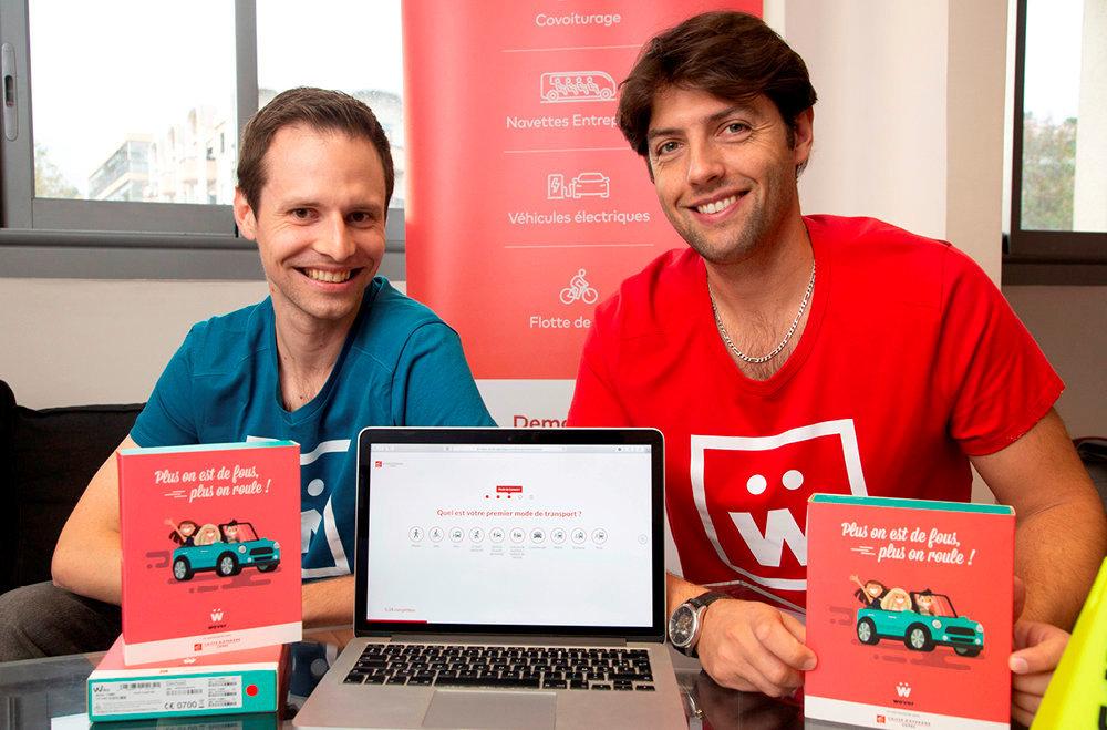 En route. Brice Eichwald, directeur financier et R&D, et Thomas Côte, fondateur et PDG de Wever, proposent des solutions de mobilité innovantes adaptées aux profils des entreprises.