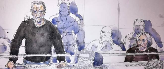 Michel Fourniret, le 13 novembre 2018 devant la cour d'assises de Versailles, où il est jugé pour le meurtre crapuleux de Farida Hammiche, l'épouse de son ancien codétenu, Jean-Michel Hellegouarch.