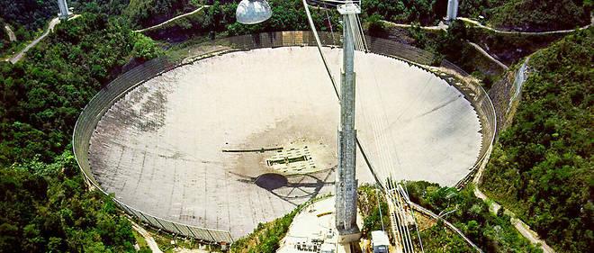 Des scientifiques américains ont envoyé il y a 44 ans un message radio de trois minutes contenant une série de 1 679 chiffres exactement de ce radiotélescope.