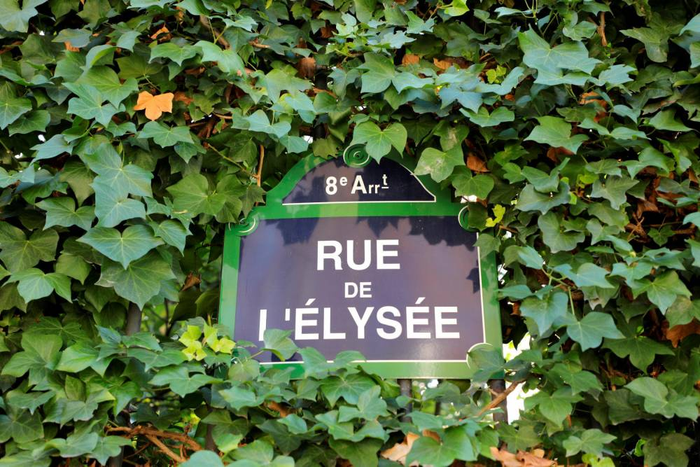 Rue de l'Elysée, à Paris ©  LUDOVIC MARIN / AFP