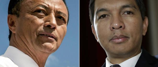 Les deux finalistes de la présidentielle malgache : Marc Ravalomanana et Andry Rajoelina.