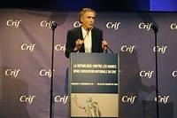 Bernard-Henri Lévy, lors de son allocution à la convention nationale duCrif, dimanche 18 novembre.