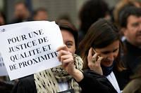 Inquiets du projet de réforme de la garde des Sceaux, les avocats appellent à une journée « justice morte » le 22 novembre.  ©Alain Pitton / Nur Photo/ AFP