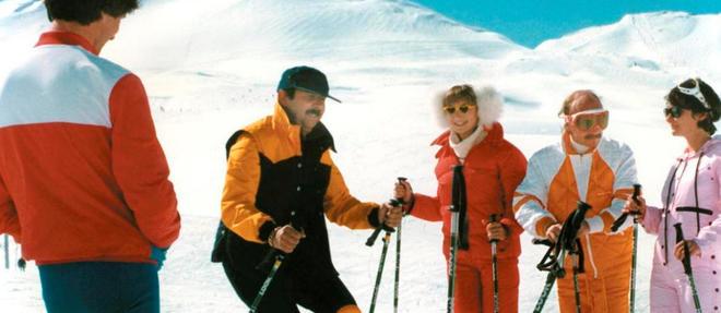 La trouple du Splendid sur les pentes enneigées de Val d'Isère.