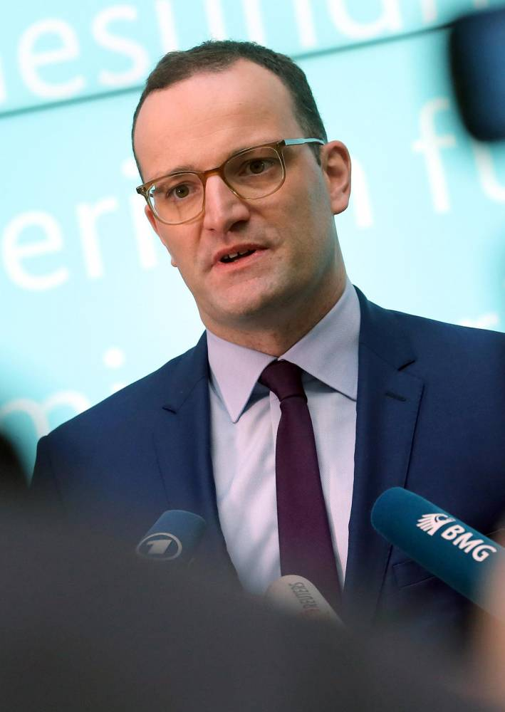 Statement by Spahn after cabinet meeting © WOLFGANG KUMM / AFP