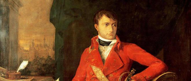Portrait de Napoléon Ier Bonaparte (1769-1821) en uniforme de premier consul, peinture attribuée à François Xavier Fabre.