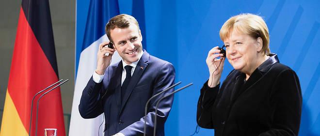 Emmanuel Macron et Angela Merkel le 18 novembre.