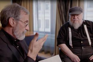 John Howe et George R. R. Martin dans la série documentaire d'Arte, Dragons.