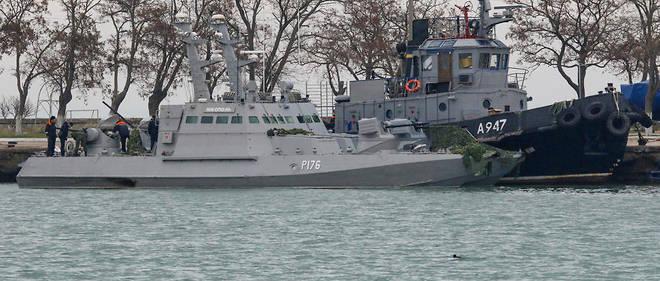 Environ une vingtaine de marins ukrainiens sont toujours détenus par Moscou.