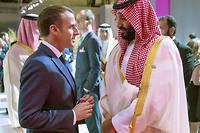 Le président français a interpellé le prince héritier saoudien sur l'affaire Khashoggi et la guerre au Yémen, affirme l'Élysée.  ©BANDAR AL-JALOUD