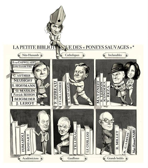 La petite bibliothèque des «Poneys sauvages», par Dusault.