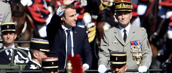 Emmanuel Macron et le général de Villiers, le 14 juillet 2017.