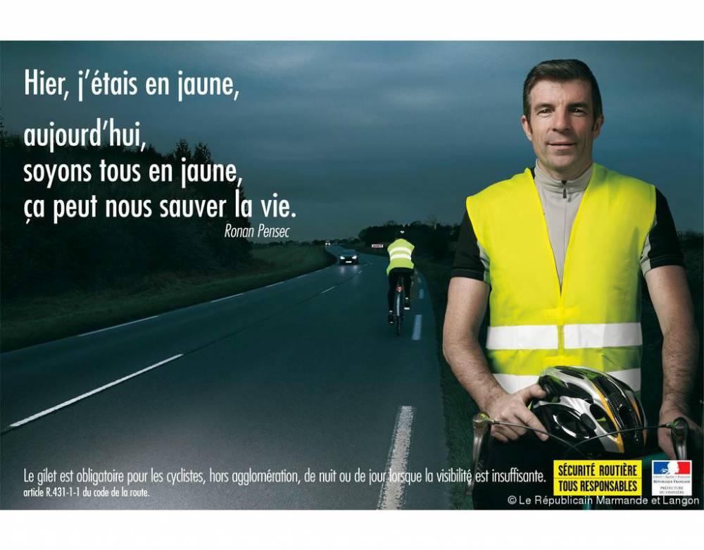 """Pour une fois, la Sécurité routière n'avait pas manqué d'humour pour sa campagne """"gilets jaunes"""" ©  Sécurité Routière"""