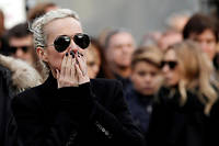 Laeticia Hallyday lors des funérailles de son mari, Johnny.  ©YOAN VALAT