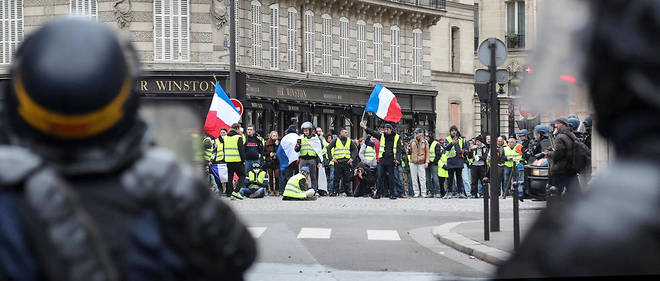 Recit d'une quatrieme journee de mobilisation des Gilets jaunes a Paris (photo d'illustration).