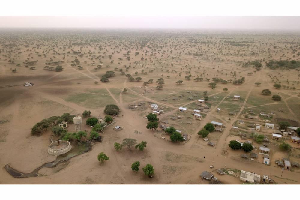 vue aérienne de drone prise en aout 2017 dans la zone où est basé l'OHMi Tessékéré, Widou-Thiengoly. ©  J-L Peiry, 2017