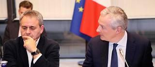 « Aujourd'hui, nous sommes sur la bonne voie, il y a un plan de financement solide et il reste un ou deux sujets techniques à traiter et qui le seront dans les 36 prochaines heures, ce qui nous laisse confiants sur l'issue du tribunal » de grande instance de Strasbourg, qui doit statuer mercredi, a déclaré le ministre.  ©JACQUES DEMARTHON