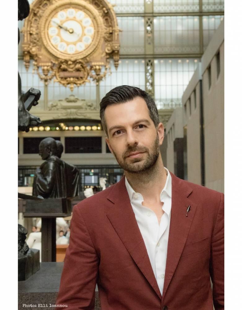 """Christos Markogiannakis, auteur de """"Scènes de crime à Orsay"""", (Ed. Le Passage) ©  Elli Ioannou"""