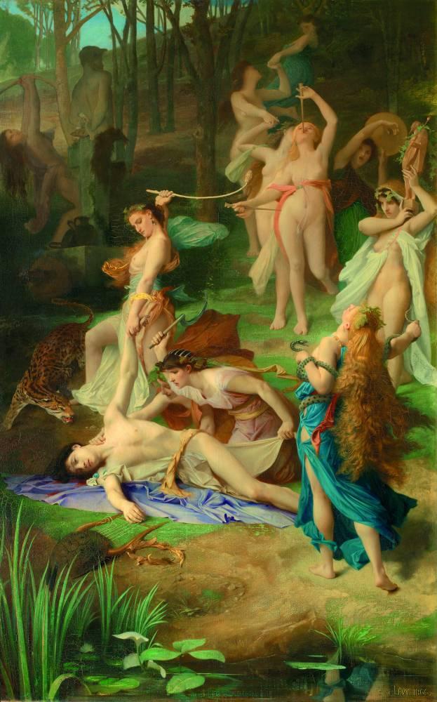 Mort d'Orphée, d'Emile Lévy, en 1866, au Musée d'Orsay © DR