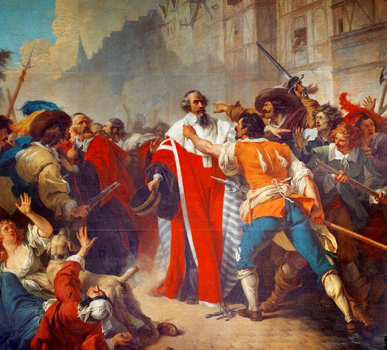 Irrationnel. «Le président Molé et les factieux à Paris durant la Fronde», le 26août 1648, par Vincent François André.