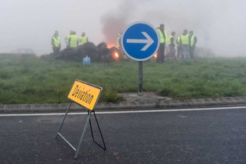 Mobilisation gilets jaunes : Carbonne ©  Laurent Ferriere / AFP