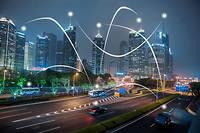 Villes, bâtiments et véhicules connectés entre eux.