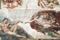 «La Création d'Adam» par Michel-Ange, au plafond de la chapelle Sixtine.  ©Luisa Ricciarini/Leemage