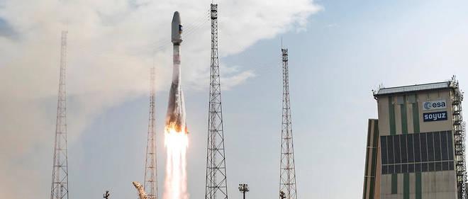Une fusée Soyouz décolle du centre spatial de Kourou, en 2015 (photo d'illustration).
