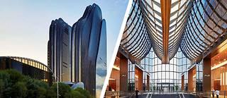A Pékin, le complexe Chaoyang Park Plaza se dresse  au cœur du quartier d'affaires.