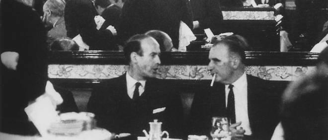7 septembre 1965, le Premier ministre Georges Pompidou dîne avec son jeune et turbulent ministre des Finances. L'un et l'autre deviendront président de la République.