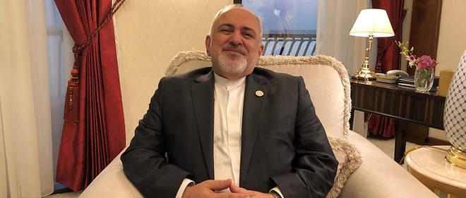 Le ministre iranien des Affaires étrangères, Mohammad Javad Zarif, recevant Le Point dans sa chambre de l'hôtel Sheraton de Doha, le 15 décembre 2018.