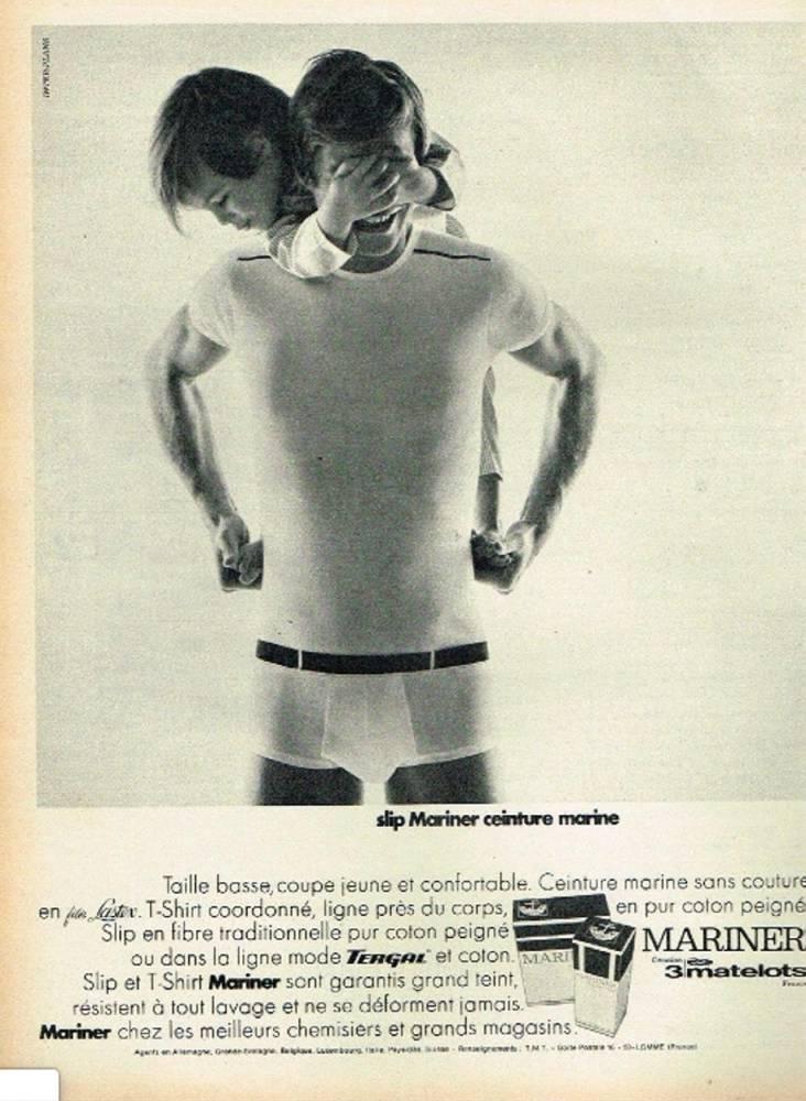 Pub lingerie homme Mariner 1969 ©  Capture d'écran