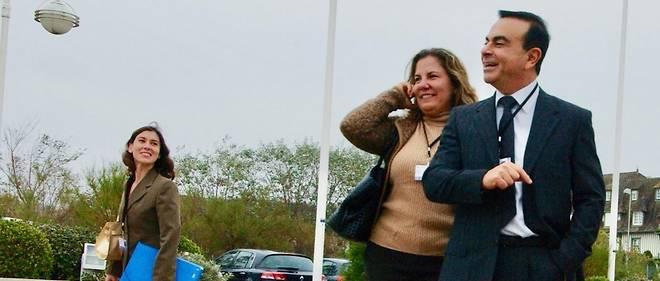 Carlos Ghosn et son épouse Rita le 12 Octobre 2007 au Women's Forum for the Economy and Society.