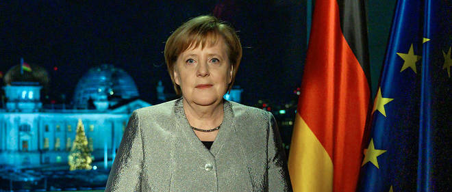 Angela Merkel s'adressant à la nation, le 31 décembre 2018.