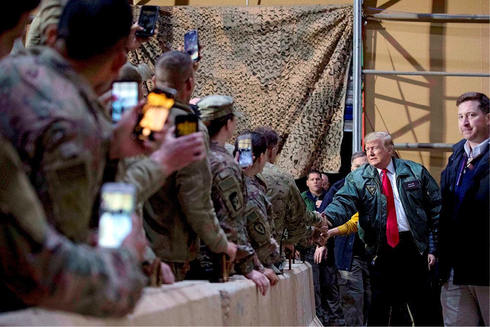 Zone de conflits. Le 26décembre dernier, Donald Trump s'est rendu pour une visite surprise sur la base américaine d'Al-Assad, en Irak.