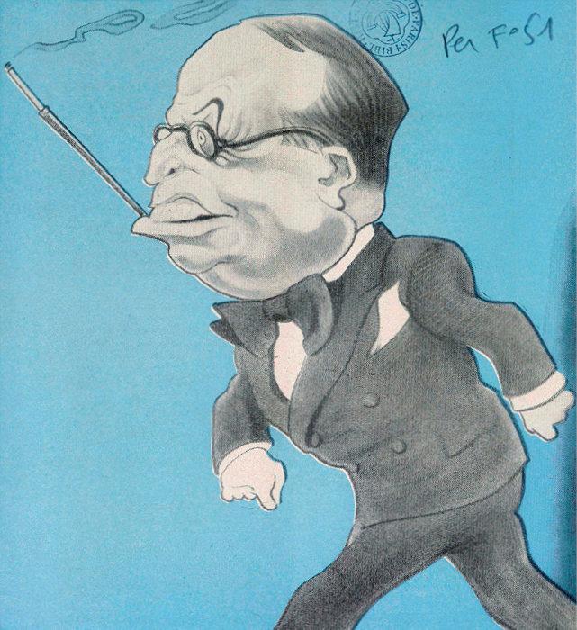 Caricature d'André Tardieu. Maxime Tandonnet décrit un homme politique remarquable, un visionnaire soucieux du bien commun, qui se heurta à l'incompréhension de son époque.