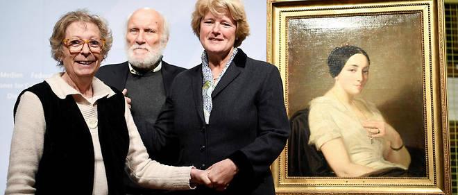 Le tableau du peintre français Thomas Couture, intituléPortrait de jeune femme assise, a été restitué mardi par la secrétaire d'État à la Culture Monika Grütters. Il était jusqu'à lundi exposé à Berlin dans le cadre d'une grande exposition d'œuvres confisquées par le régime nazi.