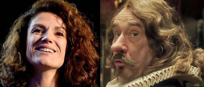 """Chantal Jouanno et Olivier Gourmet qui incarne Cyrano dans le film """"Edmond"""" d'Alexis Michalik."""