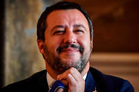 Matteo Salvini à une conférence de presse le 23 octobre 2018.  ©DANIEL MIHAILESCU/ AFP