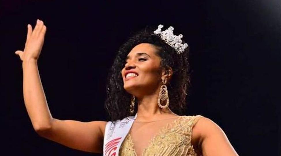Khadija Benhamou le soir de son élection comme Miss Algérie le 4 janvier 2019. ©  DR