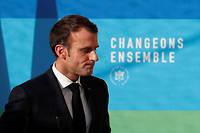 Emmanuel Macron lors de la présentation de son plan de transition écologique de la France, le 27 novembre dernier.  ©IAN LANGSDON