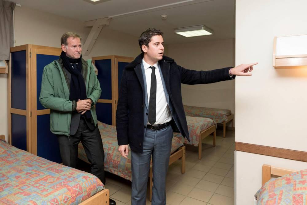 Présentation du SNU par Gabriel Attal © Vincent Poillet/REA