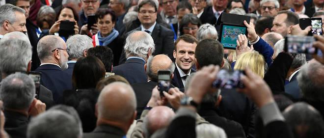 À Bourgtheroulde  dans l'Eure, Emmanuel Macron a lancé le grand débat national.