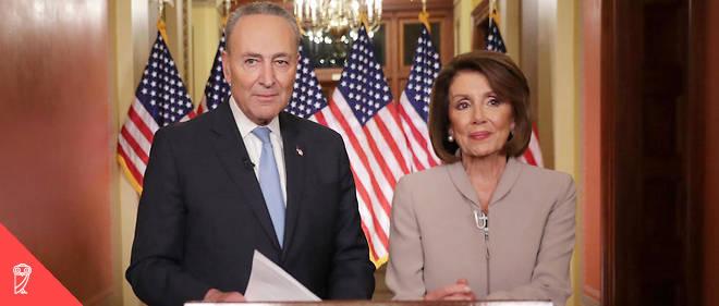 Les démocrates Nancy Pelosi et Chuck Schumer. William Galston estime qu'il faut aller plus loin : l'élite ne peut se contenter d'une approche gestionnaire du pouvoir et doit se réconcilier avec la vertu civique du commandement.