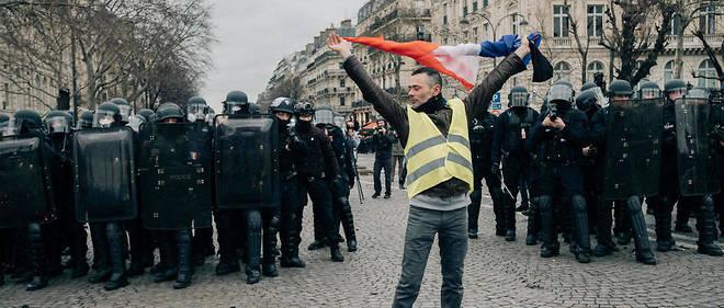 À Paris, lors de l'acte IX des Gilets jaunes, le 12 décembre.