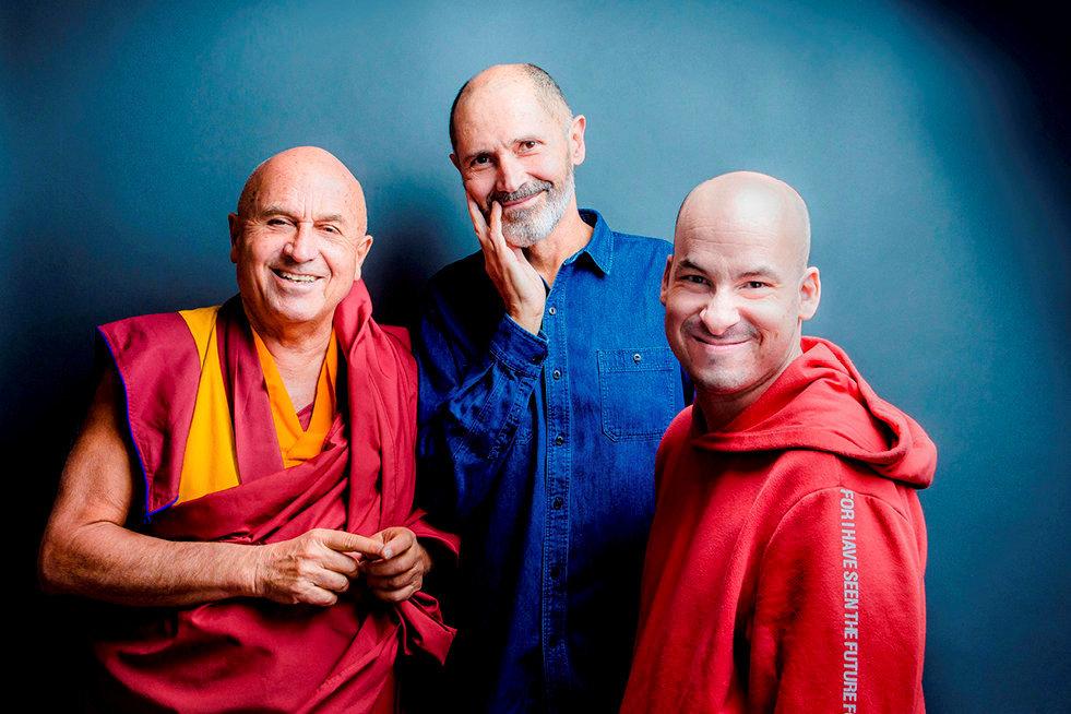 Complémentaires. Matthieu Ricard, moine bouddhiste, Christophe André, psychiatre, et Alexandre Jollien, philosophe.